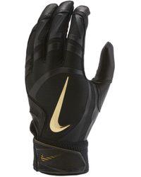 Nike Alpha Huarache Elite Baseball Batting Gloves - Black