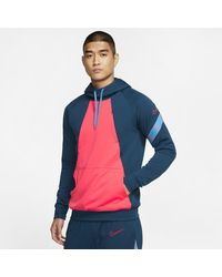 Nike Dri-fit Academy Pro Pullover Football Hoodie - Blue