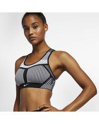 Nike Fe/nom Flyknit High-support Sports Bra - Black