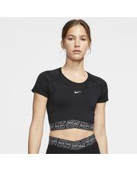 Nike Pro Dri-fit Short-sleeve Top - Black