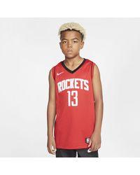Nike Rockets Icon Edition Older Kids' Nba Swingman Jersey Red