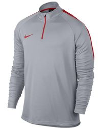 b1345c0e7cc76 Nike - Dri-fit Academy Men s 1 4 Zip Soccer Drill Top - Lyst