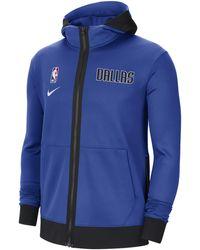 Nike Dallas Mavericks Showtime Therma Flex Nba Hoodie - Blue