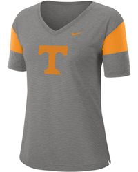 Nike - College Breathe (tennessee) Short-sleeve V-neck Top - Lyst