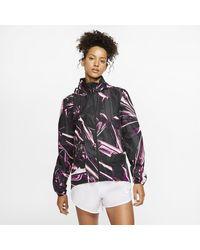 Nike Shield Full-zip Running Jacket - Pink