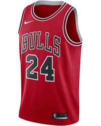Nike Lauri Markkanen Bulls Icon Edition NBA Swingman Trikot - Rot