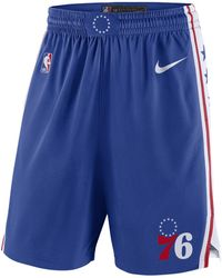 Nike Philadelphia 76ers Icon Edition Swingman NBA-Shorts - Blau