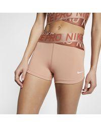 Nike Pro Intertwist Damenshorts (ca. 8 cm) - Pink