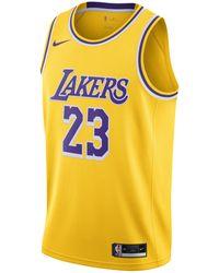 Nike Maglia LeBron James Lakers Icon Edition 2020 Swingman NBA - Giallo