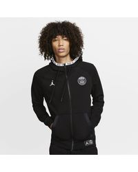 Nike Sweatà capuche à zip en tissu Fleece Paris Saint-Germain Black Cat - Noir