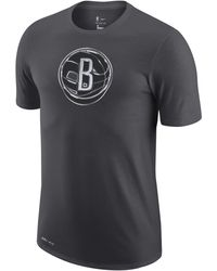 Nike Brooklyn Nets Earned Edition Camiseta Logo Dri-FIT de la NBA Negro