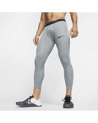 Nike Pro Tights 3/4 Casual Pants - Gray