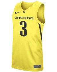 Nike College Replica (oregon) Basketball Jersey - Yellow