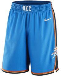 ce6cdc136228 Nike - Oklahoma City Thunder Icon Edition Authentic Men s Nba Shorts - Lyst