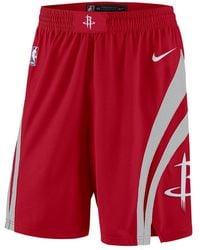 2d1cded1e9ed68 Nike - Houston Rockets Icon Edition Swingman Men s Nba Shorts - Lyst