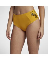 Nike Hurley Quick-dry Embroidered High-waisted Surf Bottoms - Yellow