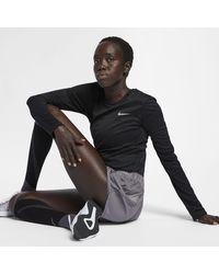 Nike Miler Damen-Laufoberteil - Schwarz
