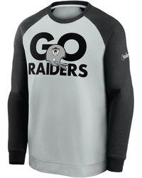 Nike Historic Raglan (nfl Raiders) Sweatshirt Grey
