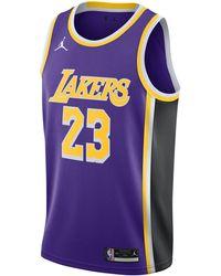 Nike Lebron James Lakers Statement Edition 2020 Jordan Nba Swingman Jersey - Purple