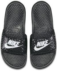 Nike Benassi -Badeslipper - Schwarz