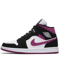 Nike Air Jordan 1 Mid schuh - Schwarz