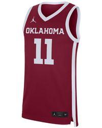 Nike Jordan College Replica (oklahoma) Basketball Jersey - Red