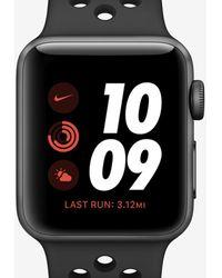 Nike Apple Watch Series 3 42mm Running Watch - Black