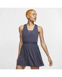 Nike Court Dri-fit Maria Tennis Dress - Gray