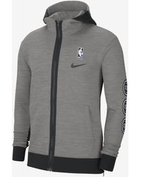 Nike Pistons Showtime Therma Flex Nba Hoodie - Gray
