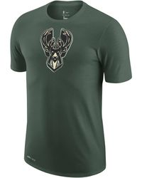 Nike Milwaukee Bucks Earned Edition Camiseta Logo Dri-FIT de la NBA Verde