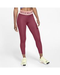 Nike Pro 7/8 Tights - Red