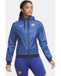 Nike Giacca FC Barcelona Windrunner - Blu