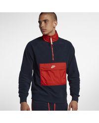 Nike Sportswear -Oberteil mit Halbreißverschluss - Blau