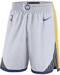 a64ebf81c1ff3e Nike Golden State Warriors Association Swingman Shorts in White for Men -  Save 31% - Lyst
