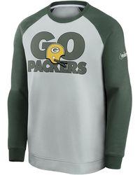 Nike Historic Raglan (nfl Packers) Sweatshirt Grey