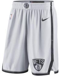 Nike Brooklyn Nets Nba Swingman Shorts - White