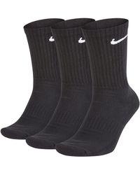 Nike Everyday Cushioned Training Crew Socks (3 Pairs) - Black
