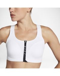 3bf40b332c Nike - Zip Medium-support Sports Bra - Lyst