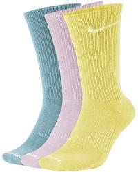 Nike Everyday Plus Lightweight Training Crew Socks (3 Pairs) - Green