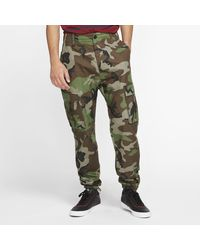 Nike Sb Flex Ftm Cargo-skatebroek Met Camouflageprint - Groen