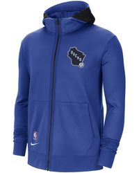 Nike Milwaukee Bucks Showtime City Edition Therma Flex NBA-Hoodie - Blau