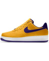 nike air force 1 low with los angeles laker colors