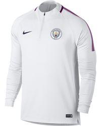 a60f2ab87 Nike - Manchester City Fc Dri-fit Squad Drill Football Top - Lyst