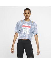 Nike Short-sleeve Graphic Training Top - Black