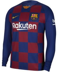 brand new b394d 2f06f Fc Barcelona 2019/20 Stadium Home Long-sleeve Football Shirt - Blue