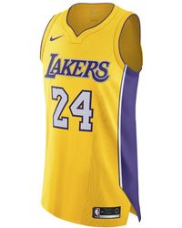 499135aa610c Nike - Kobe Bryant Icon Edition Authentic (los Angeles Lakers) Nba  Connected Jersey -
