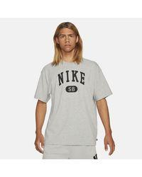 Nike SB Skateboard-T-Shirt - Grau