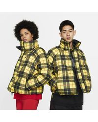 Nike Plaid Pack Fill Jacket - Yellow