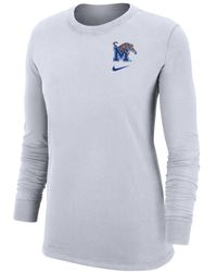 Nike College Dri-fit (memphis) Long-sleeve T-shirt - White