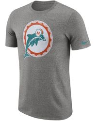 6f78ffc8 Nike Men's Long-sleeve Miami Dolphins Reflective T-shirt in Gray for ...